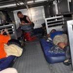 Slapen in de vrachtwagen